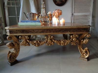 Großer Tisch Coffee Table Barockstil Engel Putto, Engel Rokoko Barock Louis XV