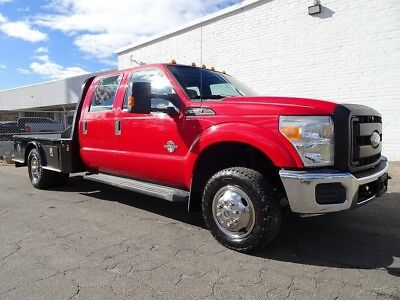 2011 Ford F-350 XL Cab & Chassis 4-Door F350 4X4 Flatbed Work Truck Utility 2011 Ford F350 4X4 Diesel Truck FlatBed XL Cab & Chassis 4-Door CM Utility Bed