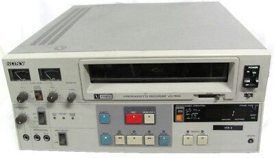 Sony U-matic Video Cassette Recorder/Player VO-7600 in good working order