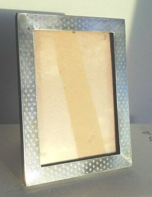 Vintage 1919 Solid Silver Photo Frame by Sanders & Mackenzie 16.4 / 12.2 cms