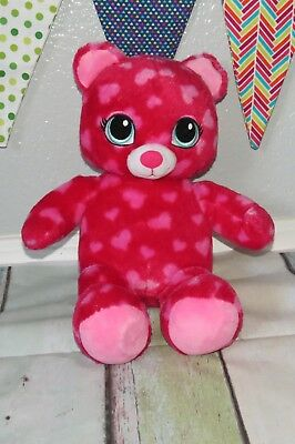 Build a Bear Sweet Hugs Pink Heart Scented Valentine's Day Plush Stuffed Toy 18""