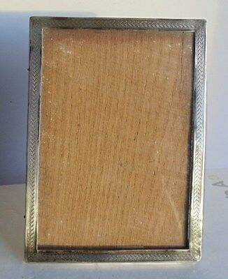 Vintage 1921 Solid Silver Photo Frame by W.H. Haseler Ltd15.8 x 11.4  cms
