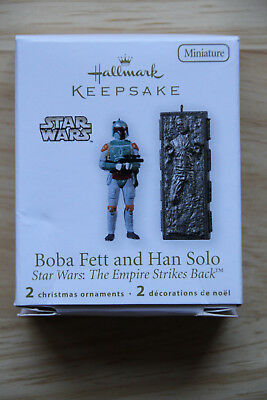 Hallmark 2010 Boba Fett & Han Solo Star Wars Keepsake Miniatures Ornaments