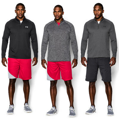 Under Armour Tech 1/4 Zip Trainingstop schwarz grau [1242220]
