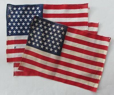 """3 Pre-1960 United States Flags-2 """"49"""" Star Flags & 1 """"48"""" Star Flag"""