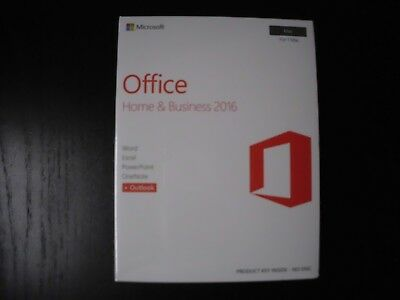 New Microsoft Office Home and Business 2016 MAC Retail Sealed Box with COA 1 MAC