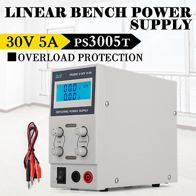 DC Bench Power Supply Switch Mode Adjustable 0-30V 0-5A PS3005