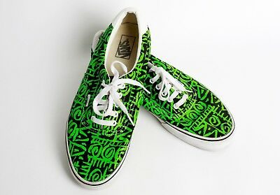 459d3a44bc32f1 AUTHENTIC VANS VAN DOREN ERA 59 TRIBAL GREEN BLACK MENS SHOES Size ...