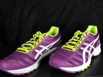 sports shoes 4d8f9 8ef00 WOMEN SIZE 8 Asics Gel-DS Trainer 18 Purple Neon White T355N ...