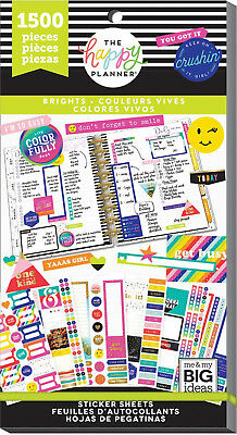 Create 365 The Happy Planner ~ Brights Value Pack ~ 30 Sheets ~ 1500 Stickers
