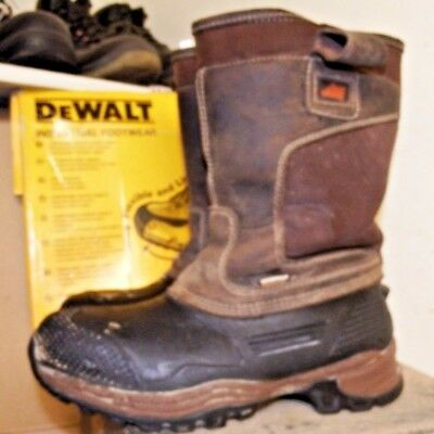 Hyena Nevis Brown Leather Waterproof Safety Rigger Boots Sz 9 / 43 Work A811