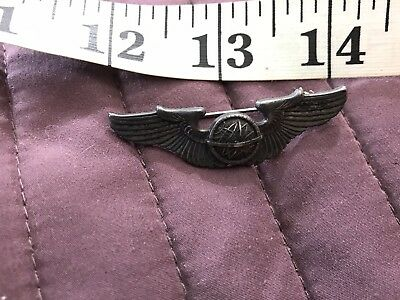 WWII USAAF Navigator Sterling Shirt Size Wings Pin