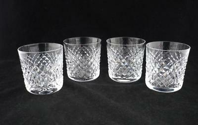 """4 Waterford Alana Old Fashioned Glasses - 3 3/8"""""""