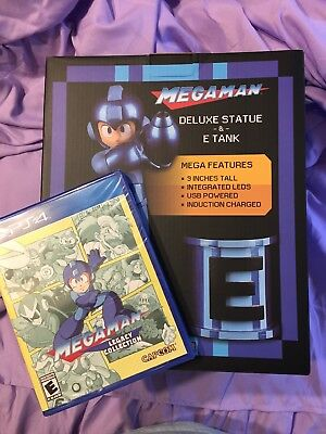 W/ PS4 GAME Mega Man Legacy Collection Deluxe Statue & E-Tank 9