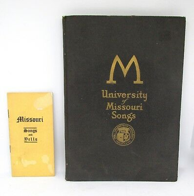 University of Missouri Songs 1924 First Edition & Missouri Songs & Yells Booklet