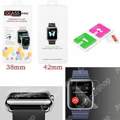 Tempered Glass Film Guard Screen Protector For Smart Apple Watch 38mm 42mm K