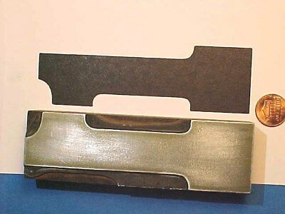 """VERY BIG Number One, #1 Numeral ONE - 1 1/2"""" x 4 15/16"""" Letterpress Printers Cut"""