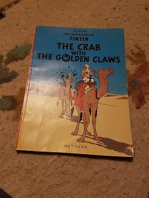 Herge The Adventures of Tintin, The Crab With The Golden Claws - Methuen 1974