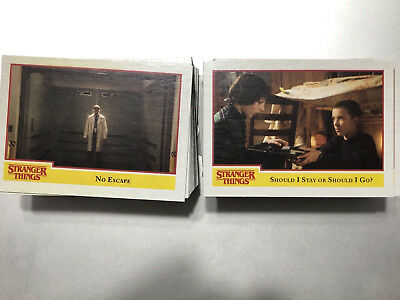 2018 Topps Stranger Things COMPLETE BASE SET #1 - 100 Komplett