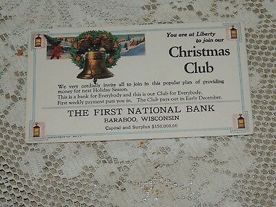 Antique The First National Bank of Baraboo Wisconsin ~ 1920-30's Ink blotter