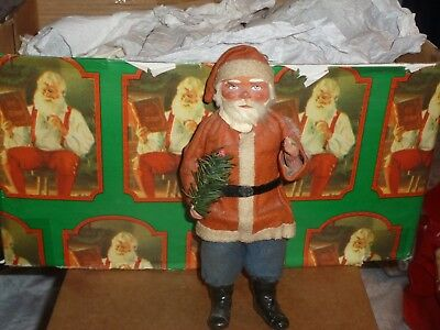 Vintage woodcutter Santa candy container made in Germany