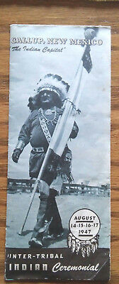 1947 Gallup New Mexico Inter Tribal Indian Ceremonial Brochure / NM History