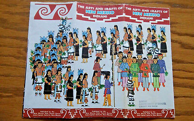 Vintage New Mexico Arts and Crafts of NM Indians Brochure / Santa Fe / ABQ