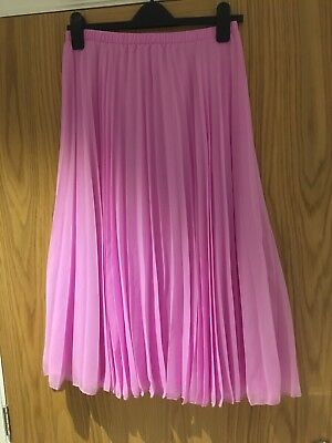 Asos Pink Pleated Maternity Skirt Size 10