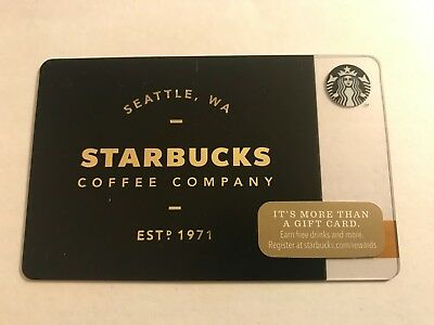 2014 Starbucks Gift Card Seattle Brown Est. 1971 Unused Pin Intact No Value 6103