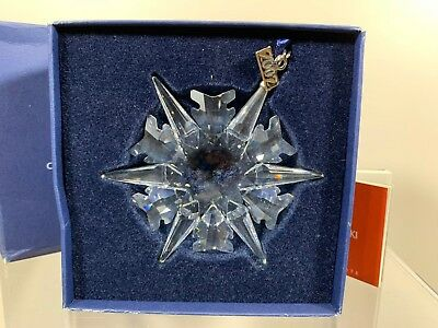 Swarovski Crystal 2002 Annual Edition Christmas Ornament 623367 MIB W/COA