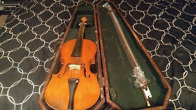 Andreas Amati Fecit 4/4 Size Vintage Violin Cremonae Anno 1674 with Wood Case