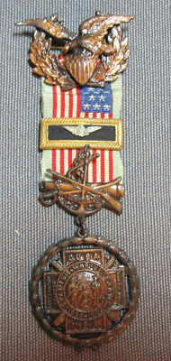 Reproduction US Spanish American War Medal Vintage
