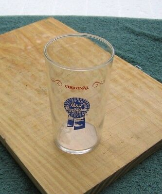 "Vintage PBR Pabst Blue Ribbon Brewery 4-7/8"" 10 oz Taster Beer Glass~Stock d"