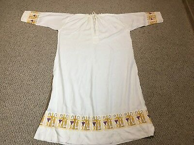 Linen Alb + Vestment + With Nice Embroidery