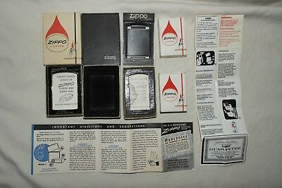 Mixed Lot Vintage Zippo Lighter Boxes & Paper Inserts