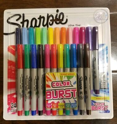 Sharpie Color Burst Permanent Markers Ultra-Fine Point Assorted 24 Pack 1949558