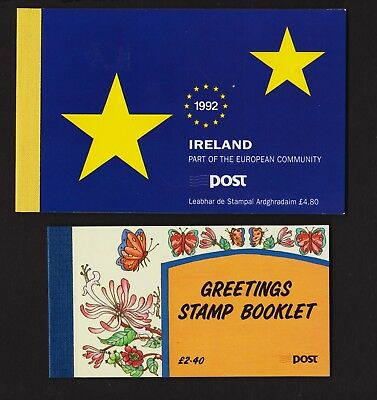 Ireland - Two Booklets from 1992, cat. $ 38.25