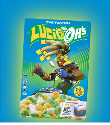 BlizzCon 2018 | Lucio Ohs | Overwatch / Kelloggs Cereal - New In Box