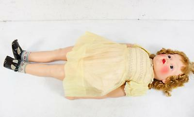 """Madame Alexander Vintage 32"""" Doll Rosy Cheeks Gold Tone Necklace"""