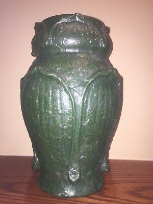 Door Pottery Vase Kendrick Scott Draves Large Grueby green retired 2013