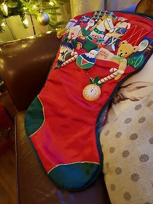 Large 90s Retro Appliqued 3d Christmas Stocking