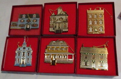 6 Bing And Grondahl Dollhouse Ornaments  3 Hampton Dollhouse Ornaments In Boxes