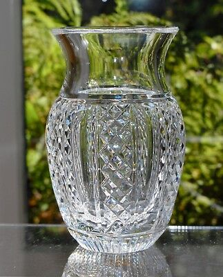 Lovely Waterford Crystal Vase Signed Jim O'Leary - Hibernia 13cm