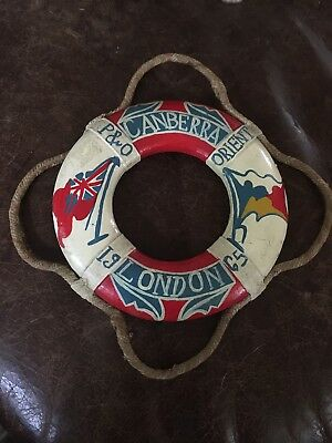 Vintage 1965 Miniature Life Buoy Ring London Orient P&O Cruise Canberra