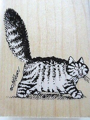 Vintage B Kliban Cat Ink Stamp - Mad Cat # A192-E - Great condition!
