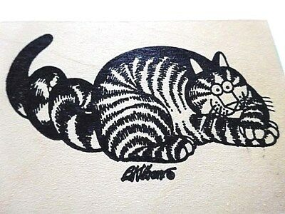 Vintage B Kliban Cat Ink Stamp - Ready to Pounce # BK043-1050 - Great condition!