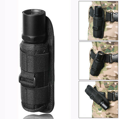 LED Flashlight Torch Pouch Holster Belt Carry Case Holder 360 Degrees Rotat SA