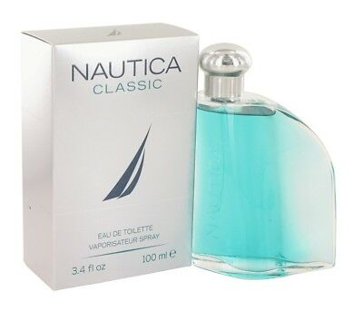 Nautica Classic Men 3.4 oz 100 ml Eau De Toilette Spray New in Box Sealed