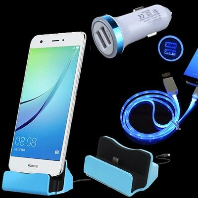 LED Car Charger Cable Charging Dock for Samsung Galaxy Note 8 9 S9 S8 + A8 2018