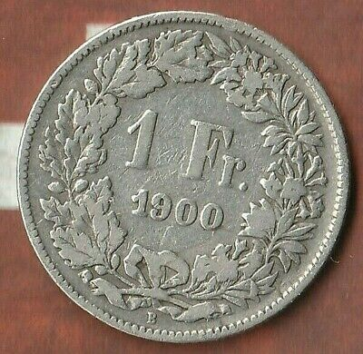 1900 Swiss Franc~ Rare Silver piece~  Nice Shape- ONLY 400,000 MINTED!!~ RARE